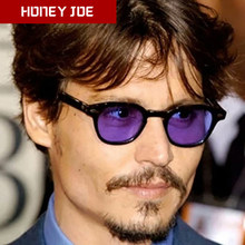 Moda Johnny Depp occhiali da sole rotondi stile piccolo uomo donna lenti colorate trasparenti Brand Design Party Show occhiali da sole Oculos De Sol