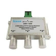 Mini FTTH CATV Optischer Empfänger 47 1000MHz 3 way passive FTTH negative optische empfänger