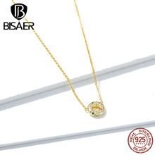 цена 100% 925 Sterling silver Lovely Sweet Donuts Clear CZ Pendant Necklaces for Women Gifts Jewelry GAN118 онлайн в 2017 году