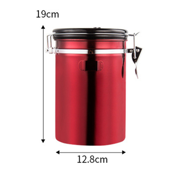 Airtight Stainless Steel Sealed Can Tea Sugar Coffee Canister With Spoon Jar date Keeper Storage Container Portable Storage Box 6