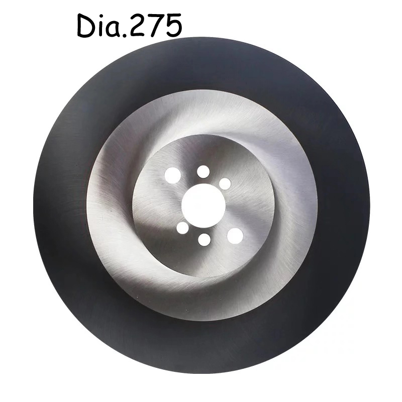 W5 DM05 HSS Circular Saw Blade with TiAIN Coated for Industry Metal Pipes Cutting Dia 275mm