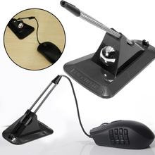 Mouse Bungee Fixer-Holder Portable Organizer Black Cord-Clip Clamp-Line Cable-Wire-Fixer