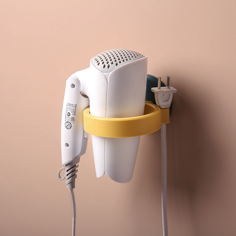 Hair Dryer Rack Bathroom Rack Bathroom Wall-mounted Hair Dryer Shelf Storage Toilet Free Punch Hair Dryer Rack
