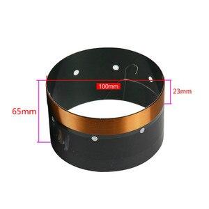Image 2 - 100mm סליל קול בס וופר תיקון חלקי 8ohm 102mm סליל קול שחור אלומיניום גבוהה כוח עבור 15  18 אינץ סאב רמקול 2PCS