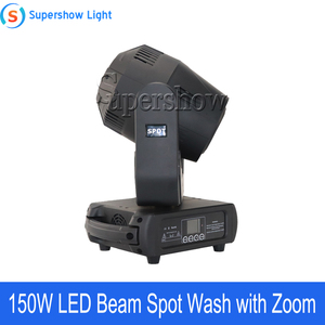 Image 2 - 4pcs With Flightcase 150W Beam Spot Wash Moving Head Light Led DMX Stage Light For Wedding Disco DJ Bar