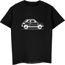 Brand Design Summer New Print Man Cotton Fashion Motorholics Mens Original Sketch Fiat 126 Car T-Shirt Family T Shirts(China)