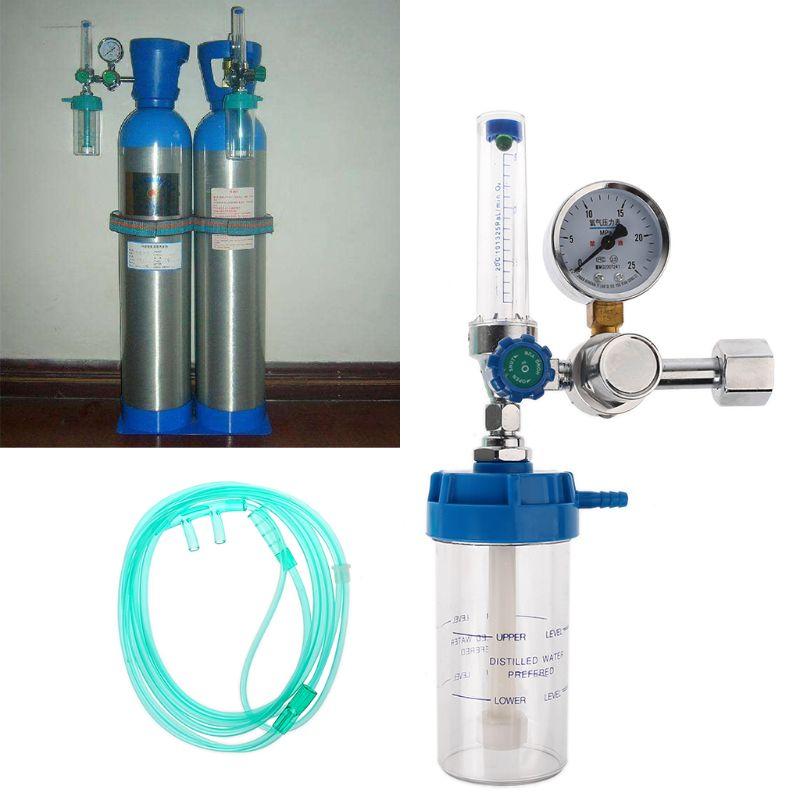 Pressure Regulator O2 Medical Oxygen Inhaler Pressure Reducing Valve Oxygen Meter G5/8