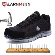 Мужская Рабочая защитная обувь для защиты от несчастных случаев и огня легкая дышащая защитная обувь