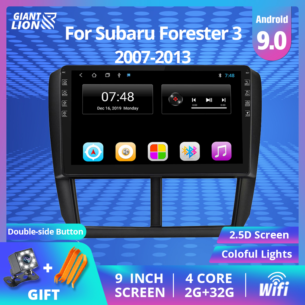 2din Android 9.0 Car Multimedia Video Player Navigation GPS For Subaru Forester 3 Accessories Sedan Stereo Receiver 2007-2013