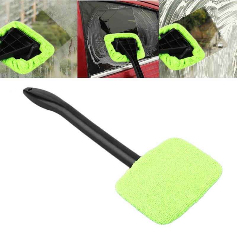 Handheld Green Windshield Easy Cleaner Tool Microfiber Wipe Car Home Window Cleaning Car Washing