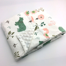 Minky Baby Blanket Flannel Fleece Animal Blanket Infant Swaddle Nap Receiving Stroller Wrap For Newborn Baby Bedding Blankets