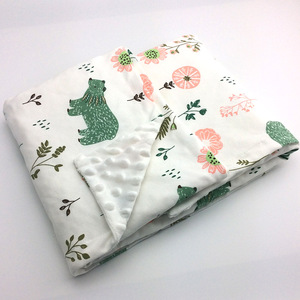 Image 1 - Minky Baby Blanket Flannel Fleece Animal Blanket Infant Swaddle Nap Receiving Stroller Wrap For Newborn Baby Bedding Blankets
