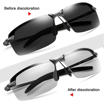 Photochromic Polarized Sunglasses Men Women Summer Glasses Male Change Color Sun Glasses Day Night Vision Driving Eyewear UV400 sunglasses driving night vision lens sun glasses male anti uva uvb for men women with case