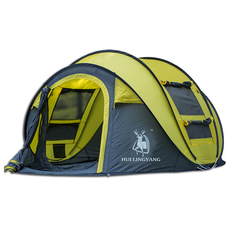 Outdoor camping tent Speed open tents Throw pop up Hiking automatic season Family Party Beach Tents large space Free shipping title=