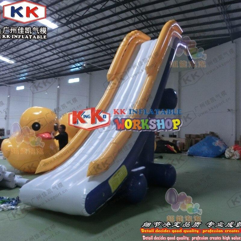 KK Factory Inflatable Dock Slide/ boat use Inflatable slide/ yacht water slide for sale