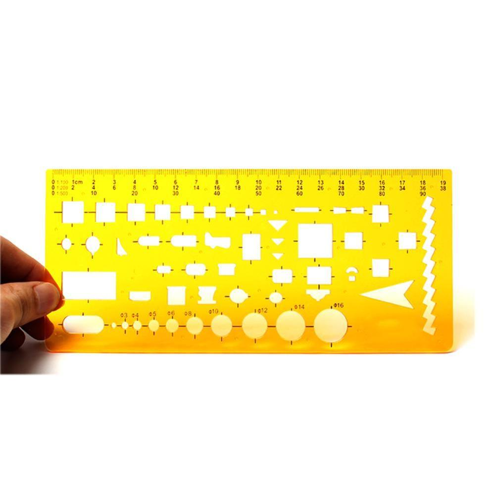 New Resin Circles Geometric Template Ruler Stencil Students Design Drawing Tool Measuring New H8A3