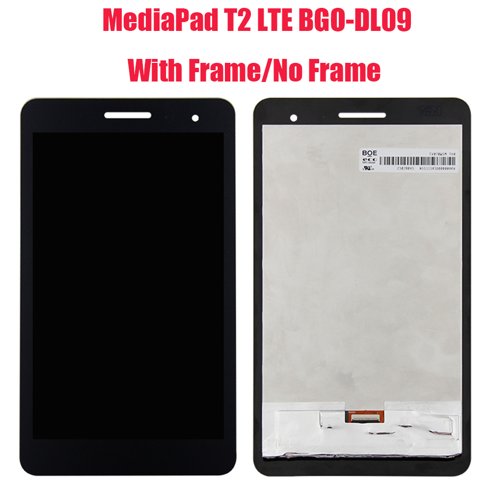 For Huawei-MediaPad T2 7.0 LTE BGO-DL09 BGO-L03 LCD Display Digitizer Screen Touch Panel Sensor Assembly With Frame+ Tools