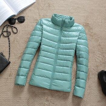 New Brand 90% White Duck Down Jacket Women Autumn Winter Warm Coat Lady Ultralight Duck Down Jacket Female Windproof Parka 10