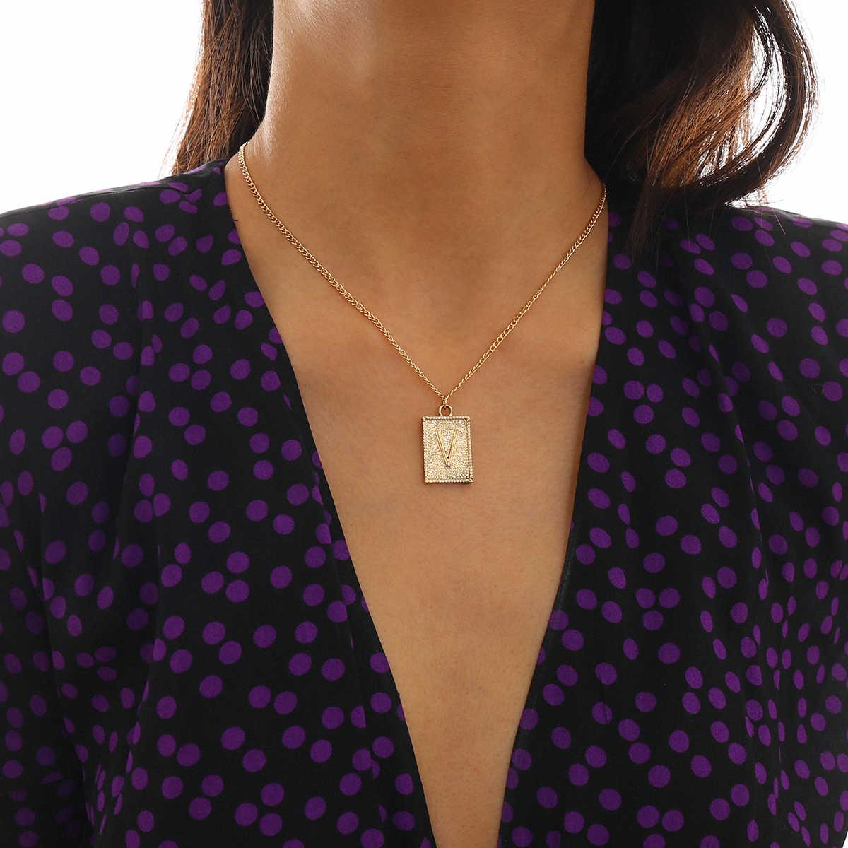 ゴシックユニークな 26 A-Z 手紙ペンダントネックレスの襟の魅力 DIY 名初期アルファベットチェーンチョーカー女性男性誕生日ジュエリー