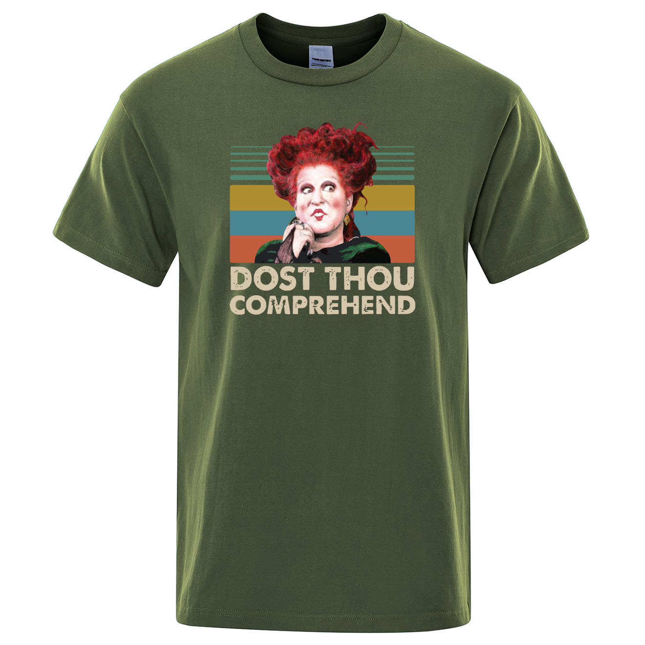 Winifred <font><b>Sanderson</b></font> Dost Thou Comprehend vintage T <font><b>Shirt</b></font> Men Summer 100% cotton O-neck tshirts Hip Hop Tops Mens Funny t-<font><b>shirt</b></font> image