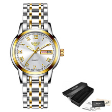 Luxury Ladies Watch  Waterproof Rose Gold Steel Strap