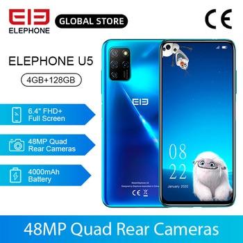 Перейти на Алиэкспресс и купить ELEPHONE U5 смартфон с 5,5-дюймовым дисплеем, восьмиядерным процессором Helio P60, ОЗУ 4 Гб, ПЗУ 128 ГБ, 48 МП, 6,4 мАч, Android 4000