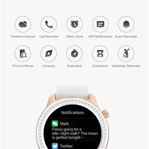 Image 5 - 재고 있음, 글리터 에디션 뉴 어메이즈핏 GTR 42mm 스마트 워치, 5기압 방수, 생활 방수, 여성용 시계, 배터리 12일, 안드로이드 및 아이폰 음악 컨트롤 기능