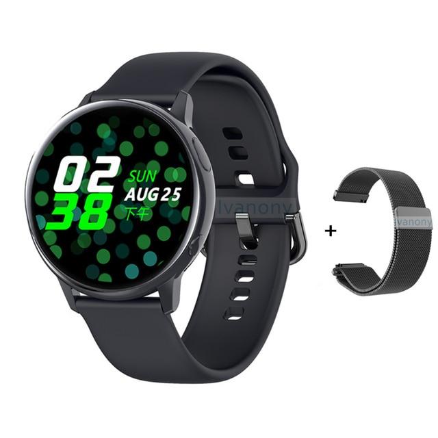 Smartwatch IP68 impermeabile + cinturino/Set Smart Watch ECG pressione sanguigna ossigeno ricarica Wireless per iPhone Samsung Huawei Watch