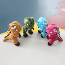 Size 12CM Stuffed Plush dinosaur keychains 4 colors Cute Animal Small Dolls keyring kids Toy Pendant key chian For Girls Gifts