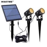 WAKYME-Lámpara de césped con energía Solar, 2 en 1, COB, de punta al aire libre, de paisaje, impermeable, foco de camino, iluminación de césped y jardín