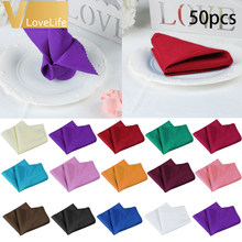 50pcs Polyester Linen Napkins Wedding Table Napkins Cotton Cloth Napkins For Wedding Napkins Wholesales Wedding Decoration