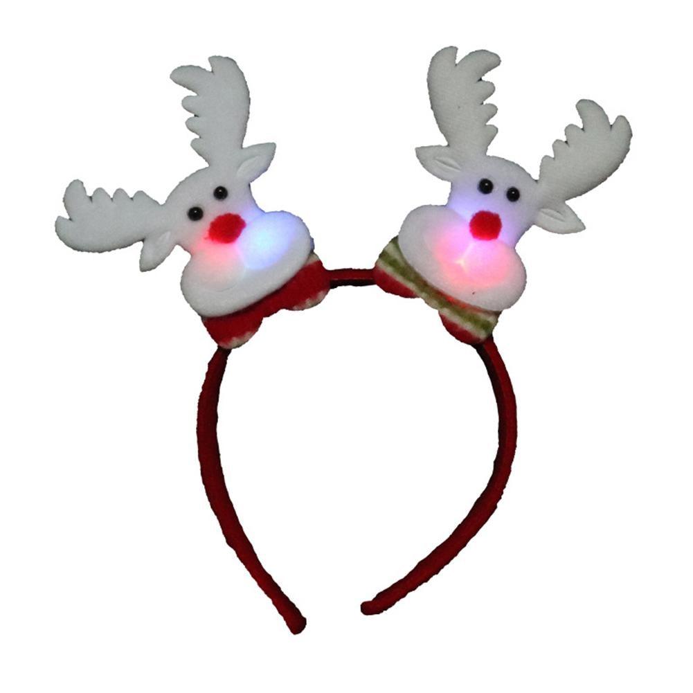 GloryStar Adults Kids Christmas Headbands Santa Hoop Xmas Party Cosplay Prop Gifts