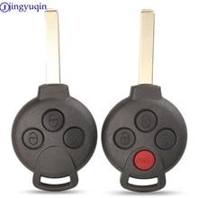 Jingyuqin 3/4 кнопочный автомобильный брелок Оболочка Чехол дистанционного брелока чехол без надписей для MERCEDES BENZ MB Smart 451