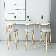 Stool Chair Restaurant Nordic Modern Minimalist Golden-Bar Backrest Reception You Leisure