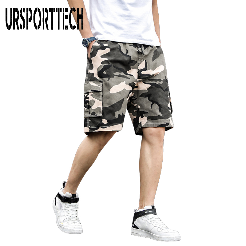 Cotton Camouflage Shorts Men Clothing 2020 New Summer Man Cargo Shorts Homme Casual Straight Shorts Male Large Size Short Pants