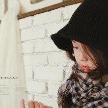 Baby knitting  children's winter popular children's hat simple concave shape woolen basin hat knitted cap