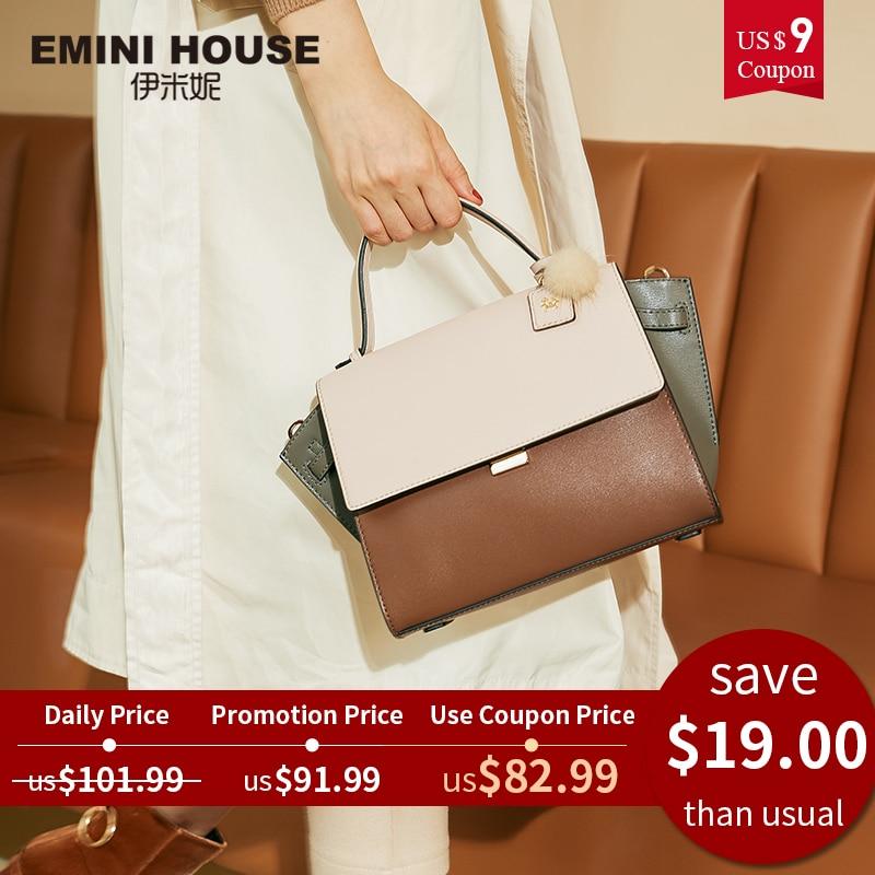 Trapeze Handbag Crossbody-Bags Women Bags Emini House Designer 2-Sizes Split