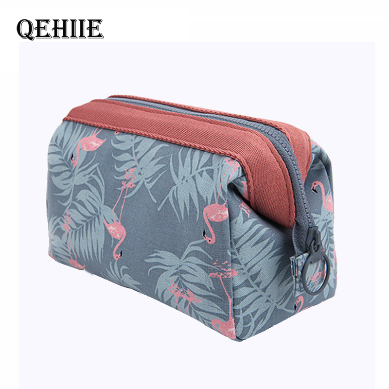 New Arrive Flamingo Cosmetic Bags Women Necessaire Make Up Bag High Quality Travel Waterproof Portable Makeup Bag Toiletry Kits