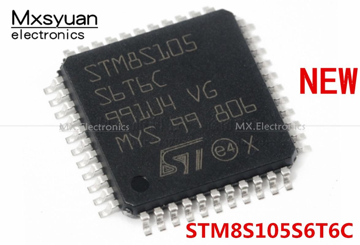 20 шт./лот STM8S105S6T6C STM8S105S6T6 STM8S105S6 QFP44 Новый микроконтроллер чип