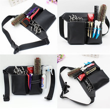 Professional Multifunction Hair Scissors Leather Case Waist Belt Barber Packet Salon Holster Pouch Hairdressing Scissors Kit Bag high quality pu leather barber hair scissors pet scissors bag salon hairdressing holster pouch case hair styling tools