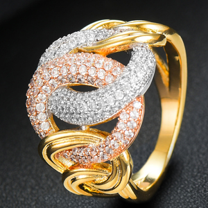 Image 3 - GODKI Luxury Link Chain Bold Rings with Zirconia Stones 2020 Women Engagement Party Jewelry High Quality