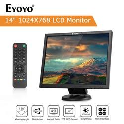 EYOYO 14 TFT Lcd-scherm 1024x768 CCTV TV Computer LCD Display Voor Beveiliging PC met BNC HDMI VGA Av-ingang Raspberry PI Monitor
