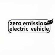 Etiqueta do carro zero emissão veículos elétricos carros decalque moda decoração do corpo pvc impermeável protetor solar adesivos
