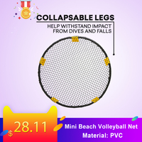 Mini Beach Volleyball Spike Ball Game Set Outdoor Team Sports Lawn Fitness Equipment Net With 3 Balls