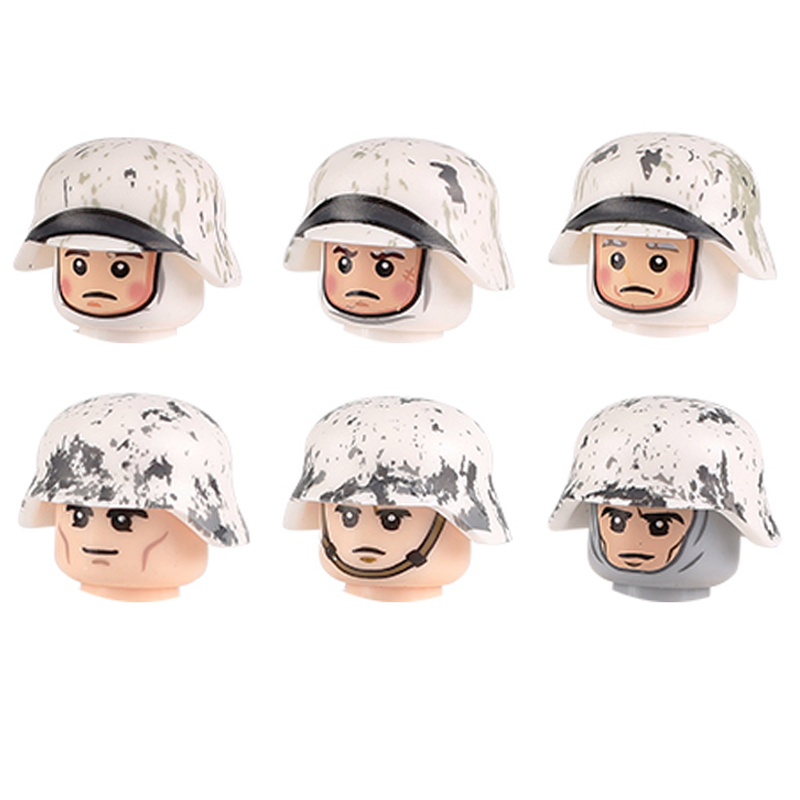 HOT Military Army Infantry Soldiers Figures Building Blocks WW2 Paratroopers Tank Soldiers Weapons Guns Parts Mini Bricks Toys