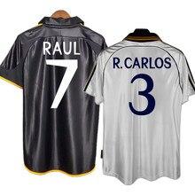 Retro 1998/01 raul r. carlos guti figo redondo anelka camisa clássica do vintage