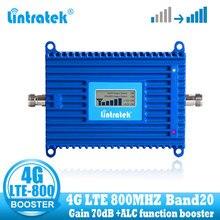 Lintratek LTE 800 mhz טלפון סלולרי מגבר אות 4G 800 mhz נייד איתותים משחזר booster band 20 4g רשת האינטרנט
