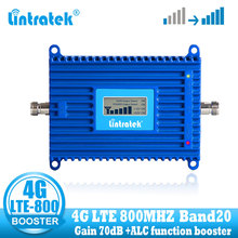 Lintratek LTE 800 mhz amplificateur de signal de téléphone portable 4G 800 mhz répéteur de signal cellulaire booster bande 20 4g réseau internet
