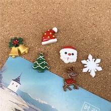 1 Набор, милые кнопки для большого пальца, декоративные кнопки для карты, булавки для пробковой доски, школы, офиса, Мультяшные канцелярские принадлежности, рождественский подарок