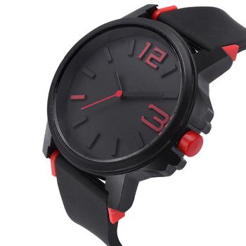 Silicone belt men's watch fashion personality student table big dial movement trend watch trend design image